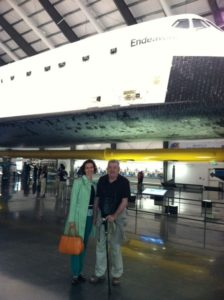 Mac-n-Mo at Space Shuttle Endeavor