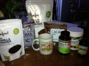 Maca cacao ingredients