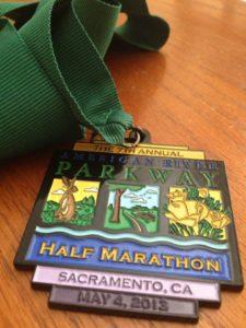 Seana's 1:2 marathon medal