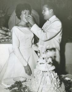 Mom & Dad wedding cake