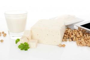 organic soy beans, soy milk, tofu