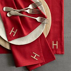 Red Envelope red napkins