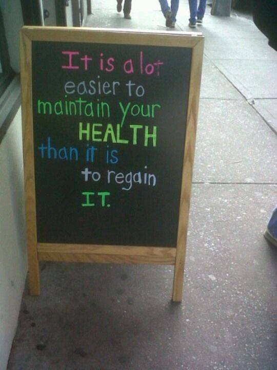 Time to regain your health